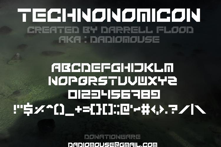 Technonomicon Font