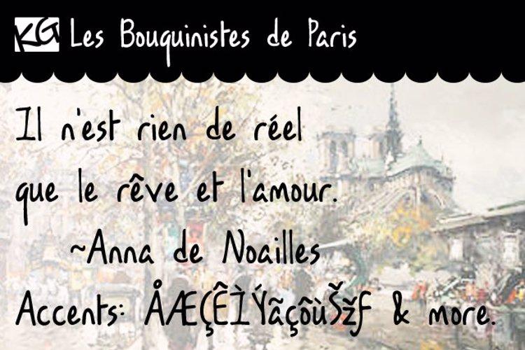 KG Les Bouquinistes de Paris Font