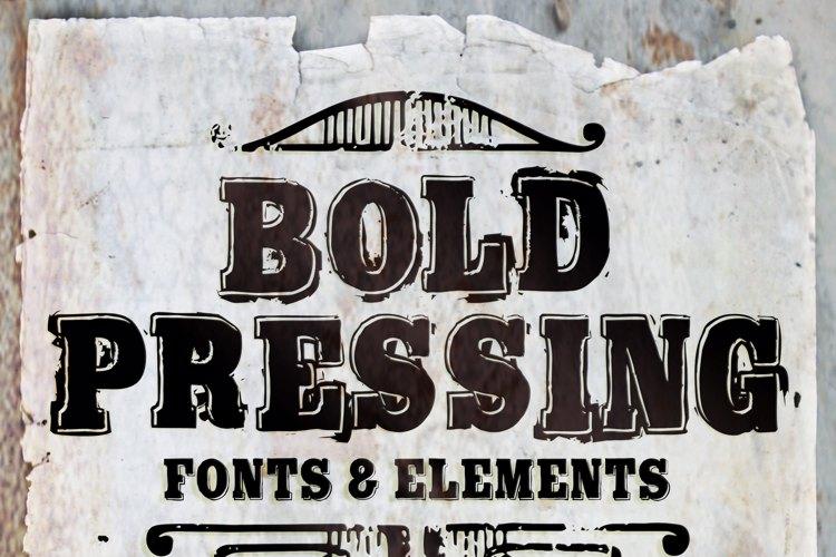 Bold Pressing H3 demo Font