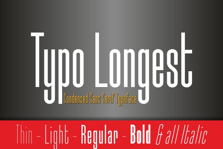 Typo Longest Font