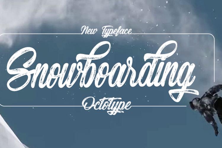 Snowboarding Font
