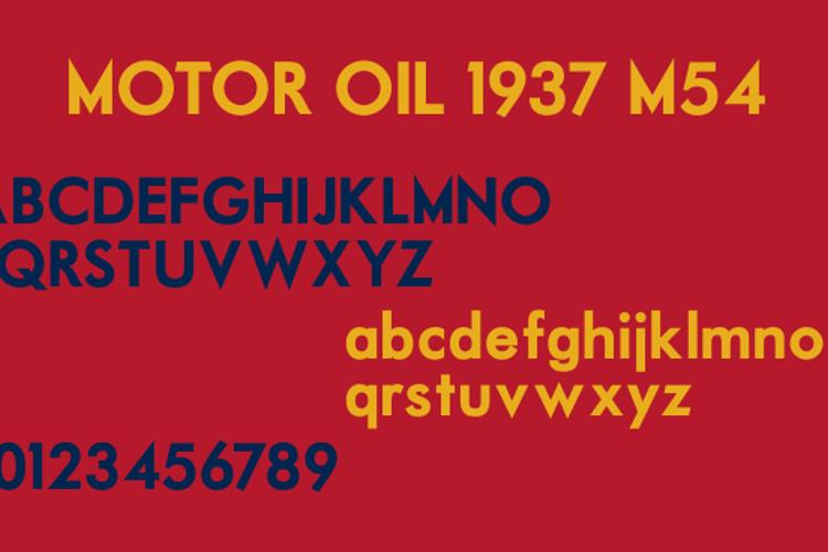 Motor Oil 1937 M54 Font