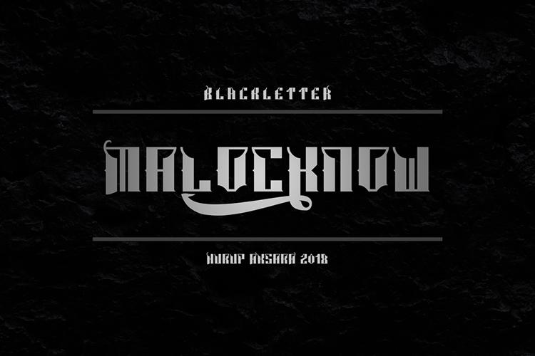 Malocknow Standard Font