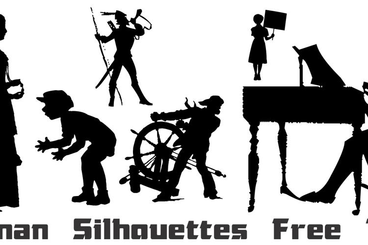 Human Silhouettes Free Ten Font