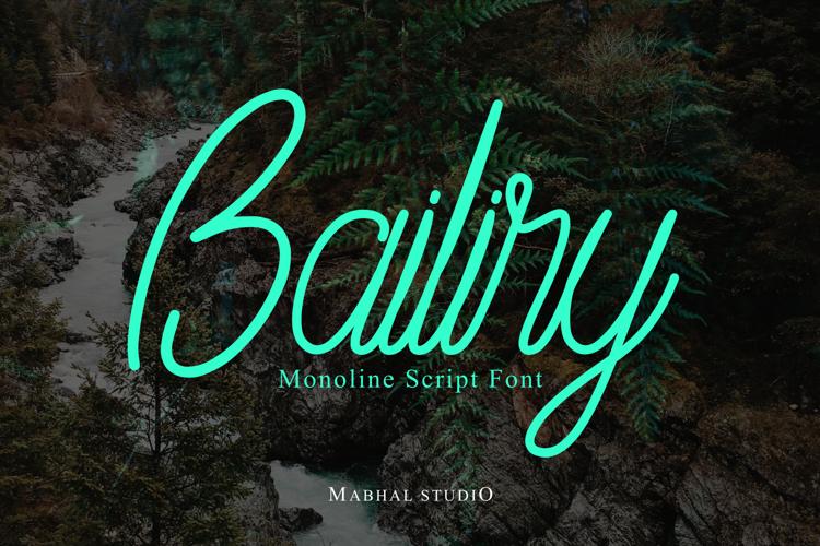 Bailiry Font