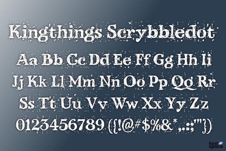 Kingthings Scrybbledot Font