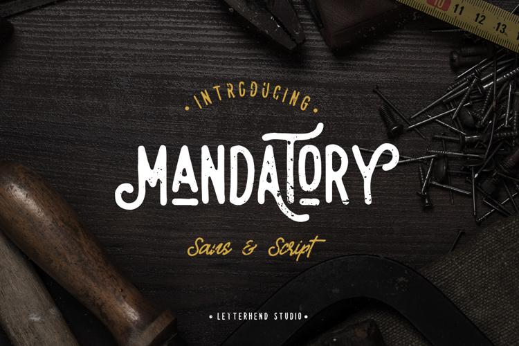 Mandatory Script Font