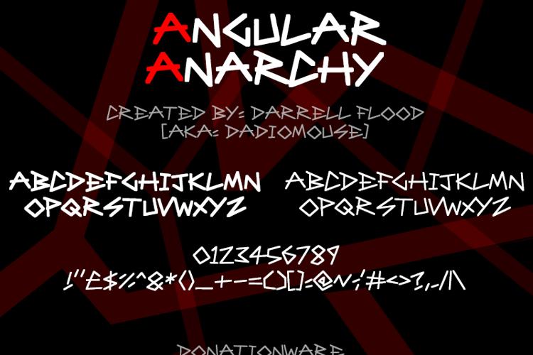 Angular Anarchy Font