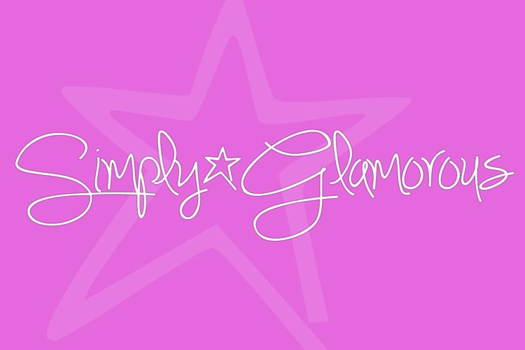 Simply Glamorous Font