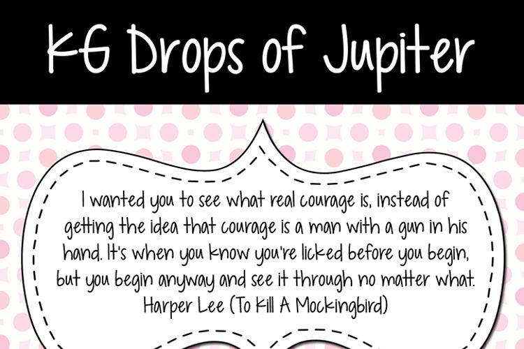 KG Drops of Jupiter Font