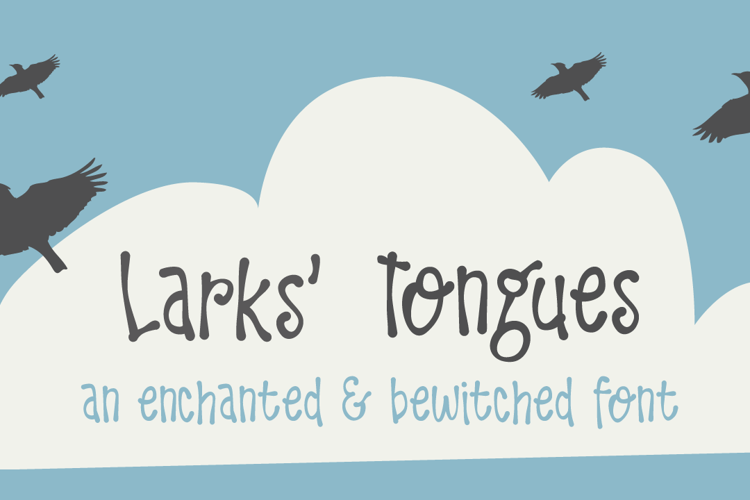 DK Larks Tongues Font