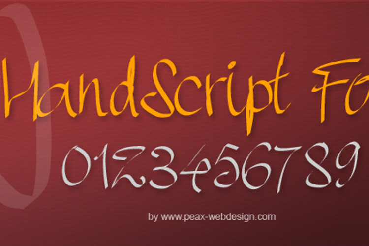 PWHandscript Font
