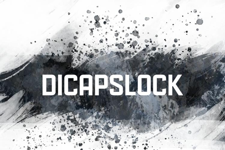 d Dicapslock Font