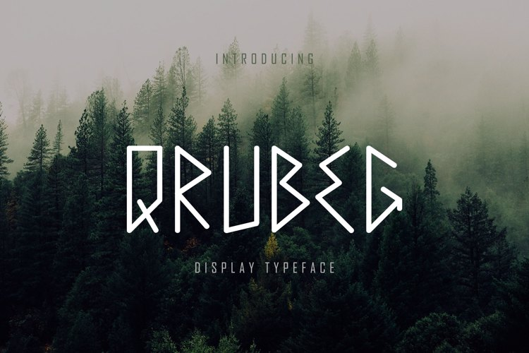 Qrubeg - Display Font