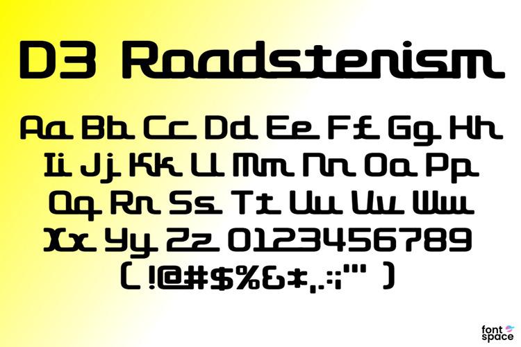 D3 Roadsterism Font