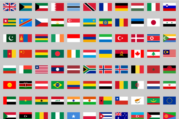 flags color world Font