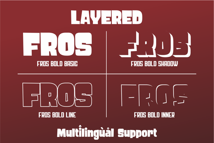 FROS BOLD Font