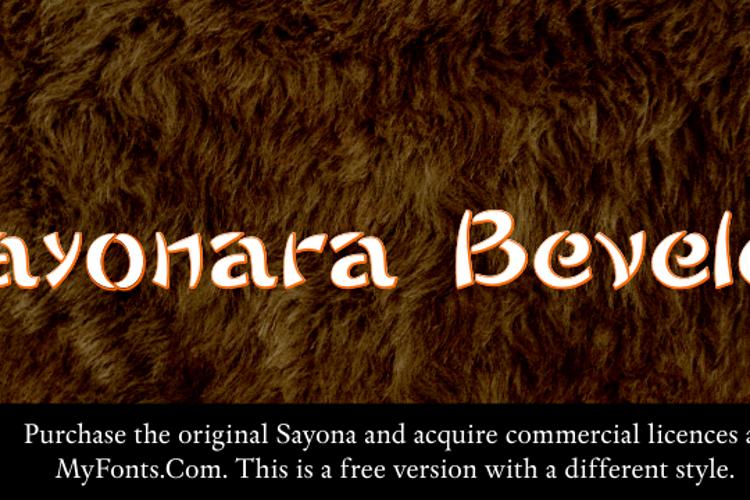 Sayonara Beveled Font