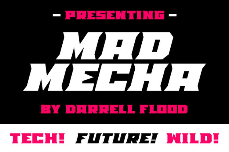 Mad Mecha Font