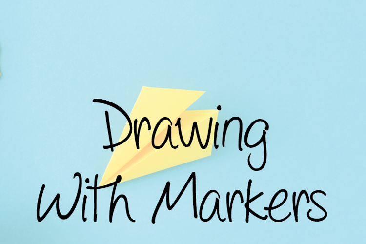 Drawing with markers Font