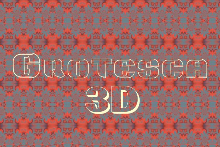 Grotesca3-D Font