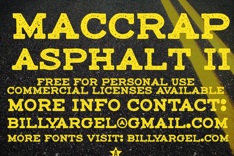 maccrap asphalt II Font