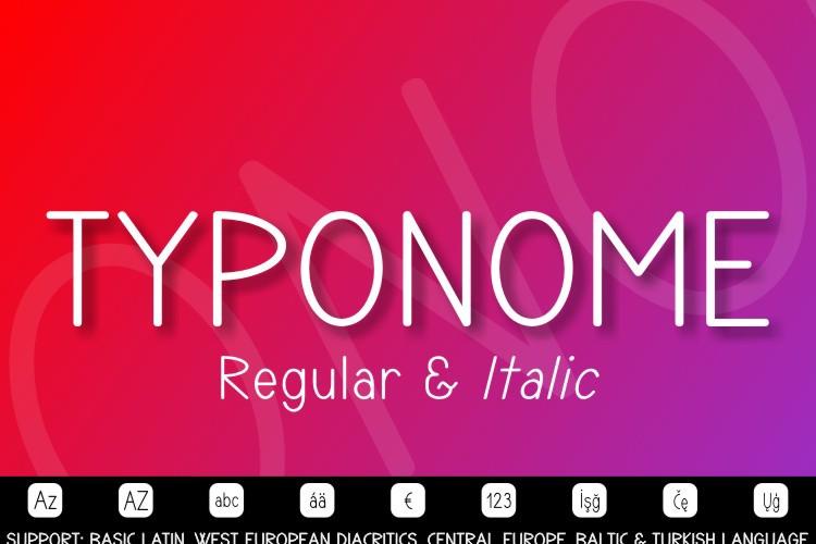 TYPONOME Font