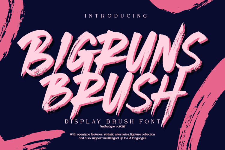 Bigruns Brush Font
