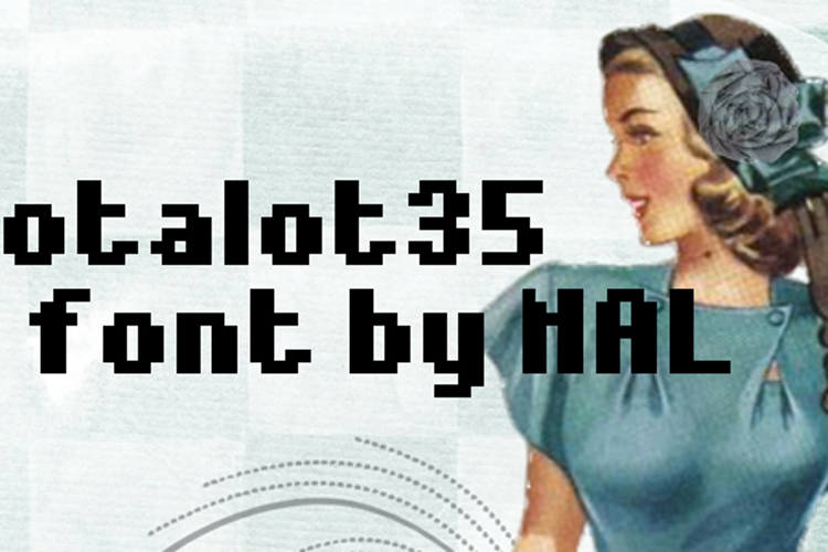Notalot35 Font