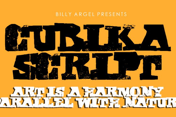 CUBIKA SCRIPT Font