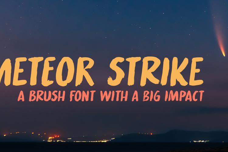 Meteor Strike Font