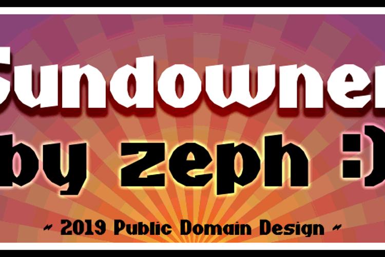 Sundowner Font