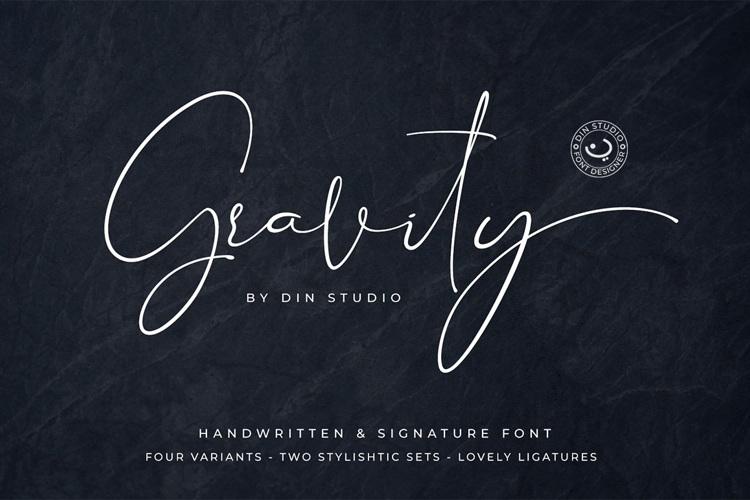 Gravity Handwritten Font