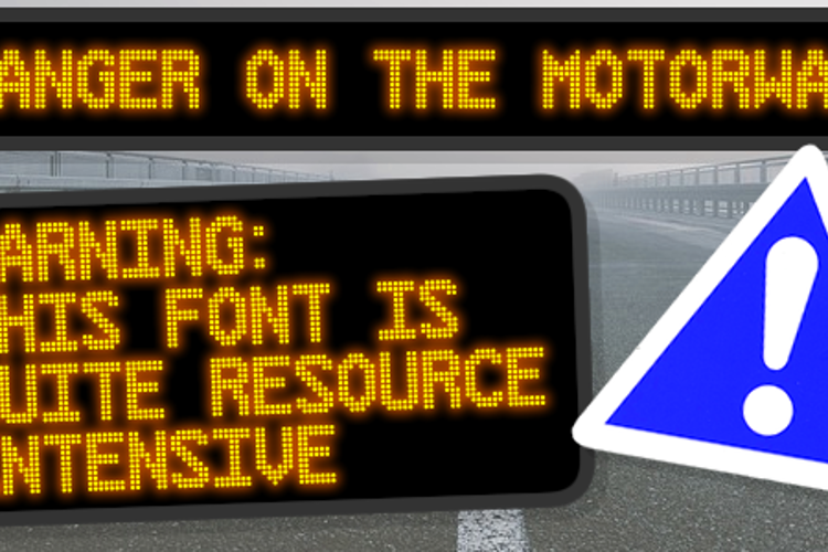 Danger on the Motorway Font