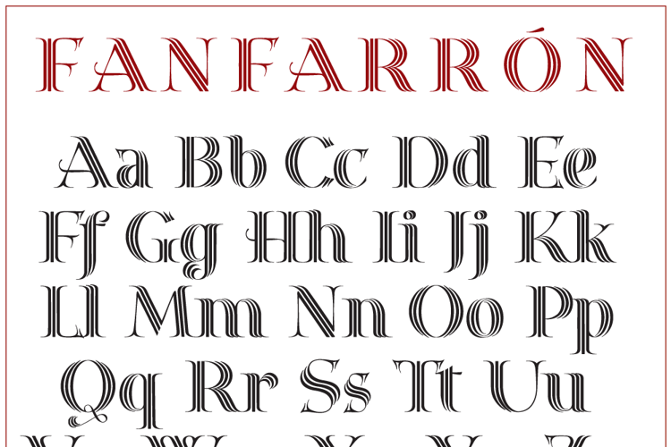 Fanfarrón Font