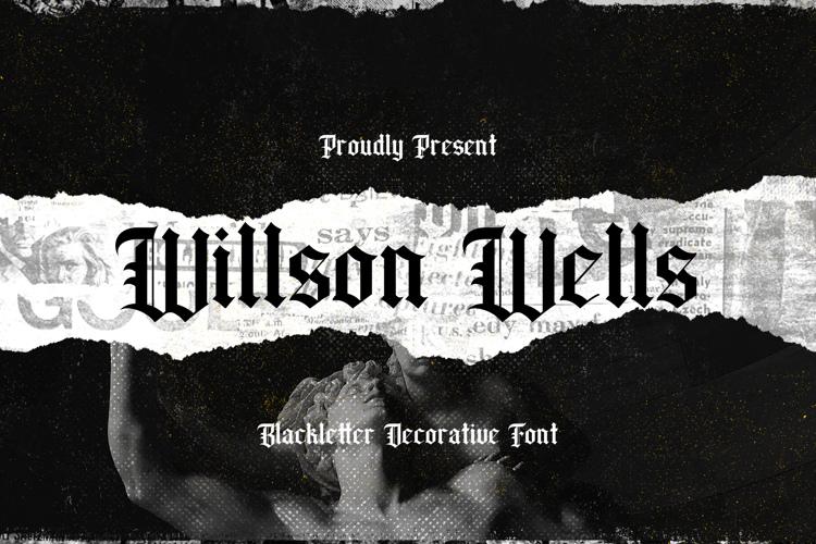 Wilson wells Font