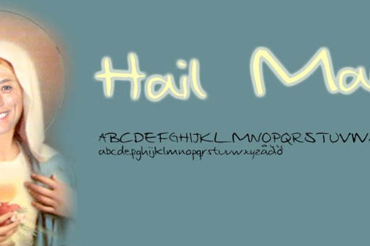 Hail Mary Font