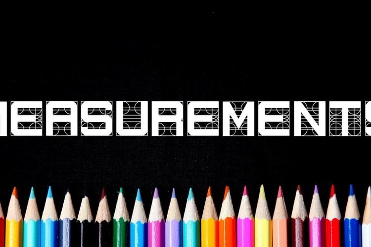 Measurements Font