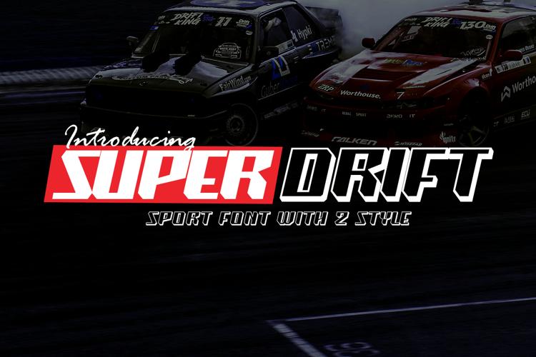 Super Drift Font