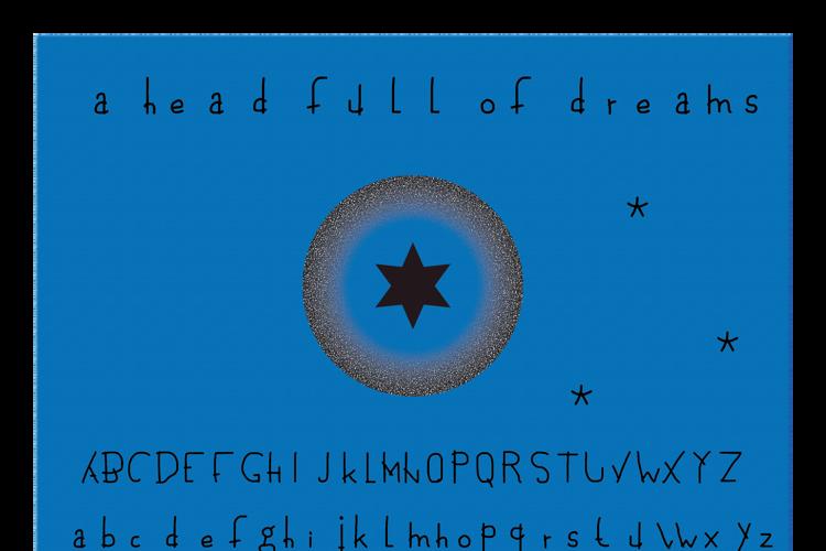 a head full of dreams Font