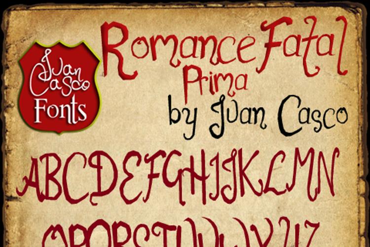 Romance Fatal 1.00 Font