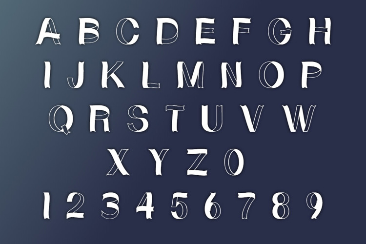 Curly Ribbons Font