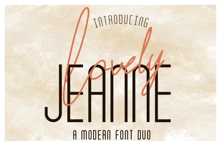Lovely Jeanne Sans Font
