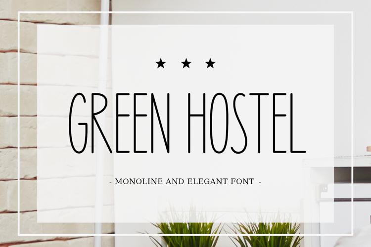 Green Hostel Font