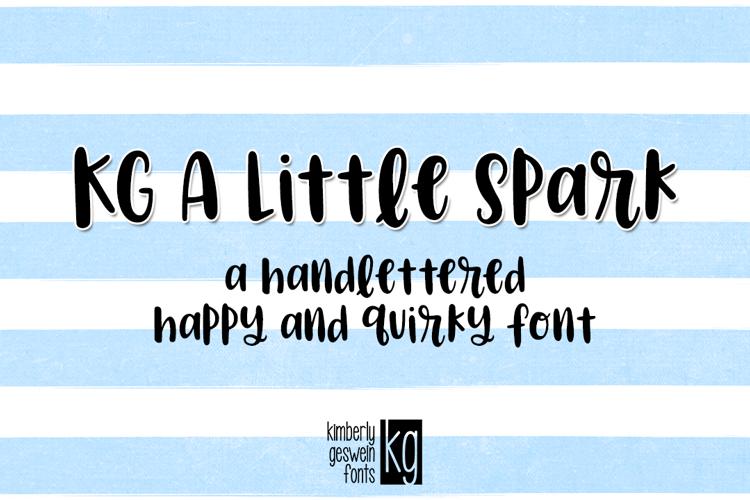 KG A Little Spark Font
