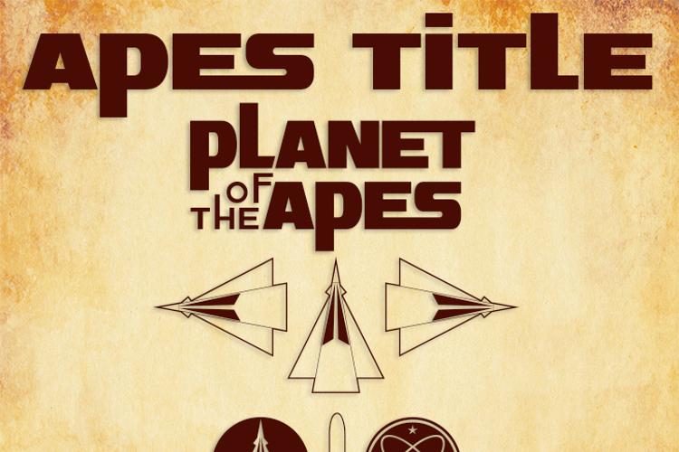 Apes Title Font
