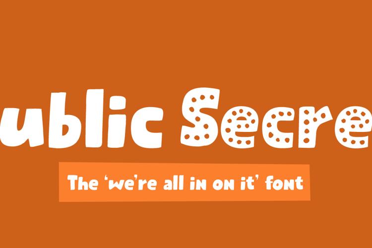 Public Secret Font