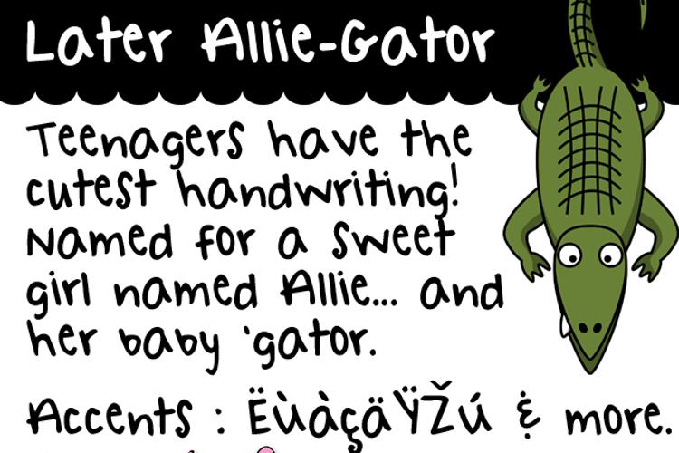 Later Allie-Gator Font