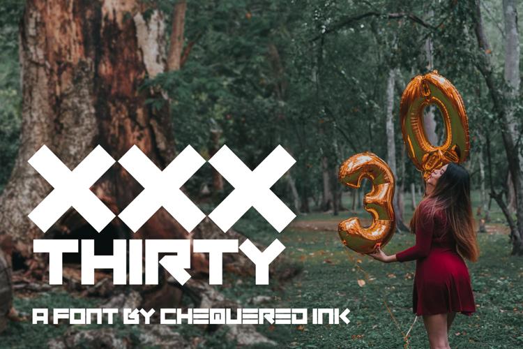 XXX Thirty Font
