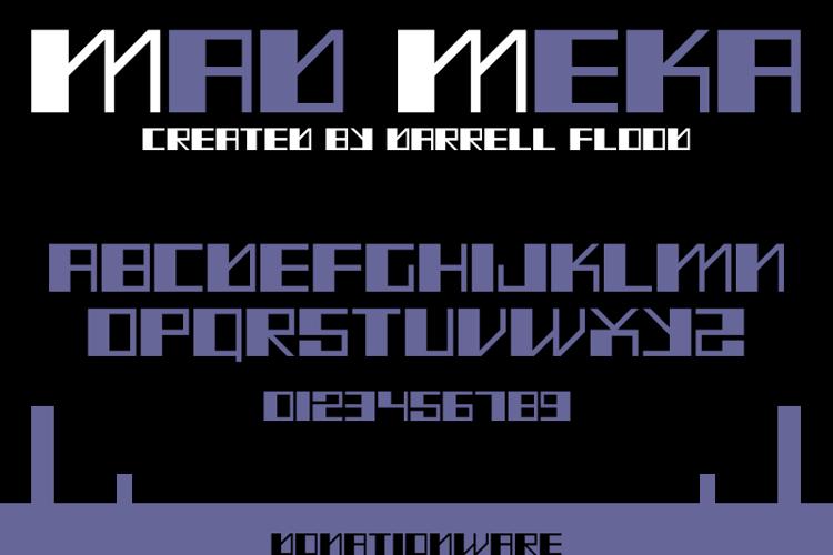 Mad Meka Font